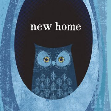 "NEW HOME CARD ""OWL IN A TREE"" SIZE 6.25"" x 6.25"" AGOI 9982"